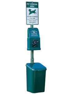 Poly DOGIPOT® Pet Station - Forest Green (#1010)