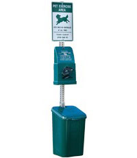 Poly DOGIPOT® QUIK Pet Station - Steel Post (#1010-S)